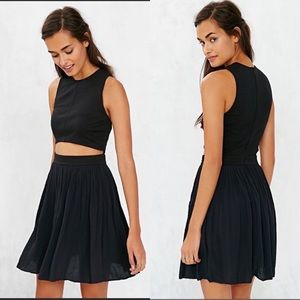 Urban Outfitters Alice & UO Pleated Cut Out Dress